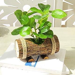 Roovtap Artificial Planta Bonsai Plástico Simulación Árbol Lavado Decorativo Hoja Falsa Jardín Casa Oficina Decoración 24 ...