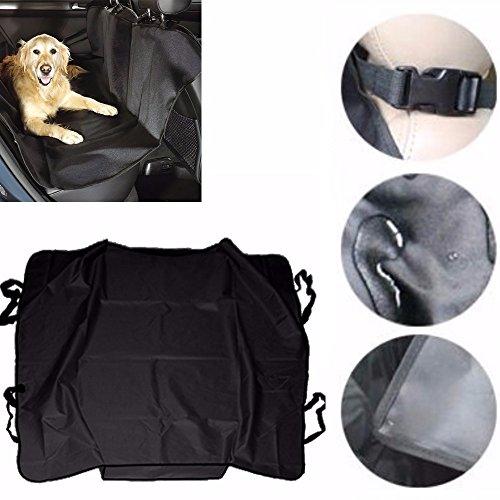 DOBO® Telo NERO copri sedile posteriore impermeabile waterproof cover per auto macchina protezione peli graffi per cani gatti pet animali con doppie cinghie poggiatesta e bordini centrali - 120x120 cm