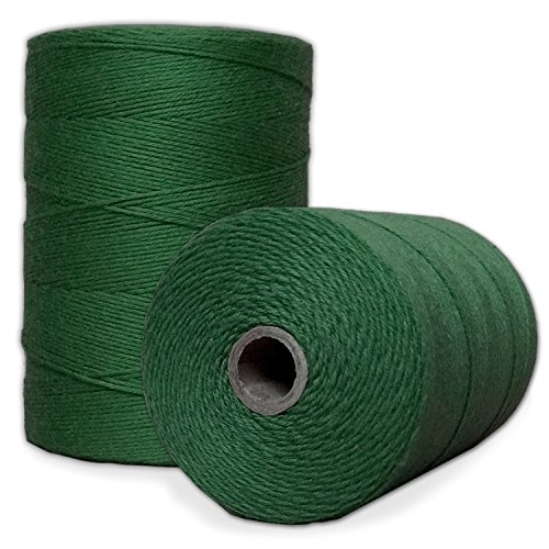 100% Cotton Loom Warp Thread Green 8/4 Warp Yarn 800 Yards Perfect for Weaving: Carpet Tapestry Rug Blanket or Pattern  Warping Thread for Any Loom