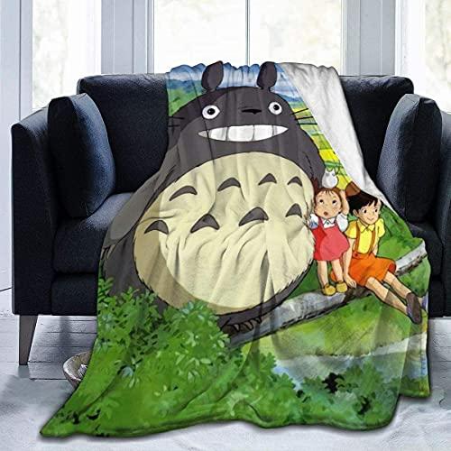 Decke Sommer Decke Flanell Decke Bett Sofa Wohnzimmer Decke-My Neighbour Totoro (80'x60'/204x153cm) BLK-510
