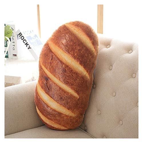 Youpin 50 cm 70 cm 3 tipos de almohada creativa patrón de pan divertido suave masaje cuello almohada PP algodón relleno de la salud cervical almohada (color: pan de mantequilla, tamaño: 50 cm)