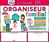 Organiseur familial Mémoniak 2019-2020 - Calendrier sur 16 mois de sept 2019 à dec 2020 - Des magnets ultra-solides et une frise Montessori en cadeau !