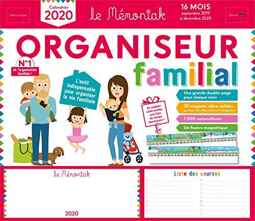 Organiseur familial Mémoniak 2019-2020 - Calendrier sur 16 mois de sept 2019 à dec 2020