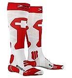 X-Socks Calcetines de esquí unisex Patriot 4.0 Switzerland, Unisex adulto, XS-SS43W19U-T021-42/44, Suiza., 42-44