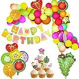 Tutti Frutti Party Decorations Fruit Balloon Arch Guirlande Kit Fruité Anniversaire Décorations De Douche De Bébé Joyeux Anniversaire bannière pour L'été Tropical Luau Thème Fournitures De Fête