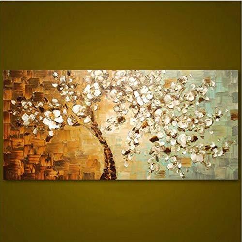 ZXMPGYH Pintura Pinturas de Flores decoración para el hogar Arte Cuadros Pintados a Mano Flores Pintura al óleo sobre Lienzo para Sala de Estar