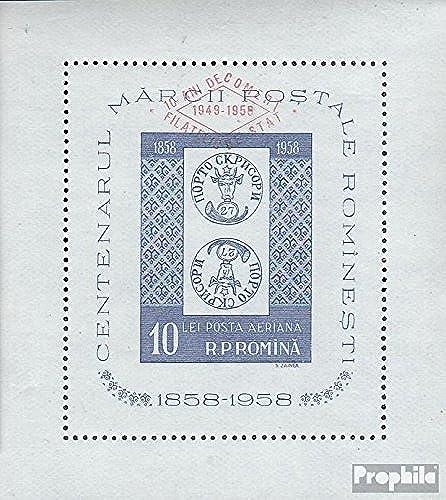 Rouhommeie block42 (complète.Edition.) 1959 100 Années roumain Timbres (Timbres pour Les collectionneurs) Timbre sur Le Timbre