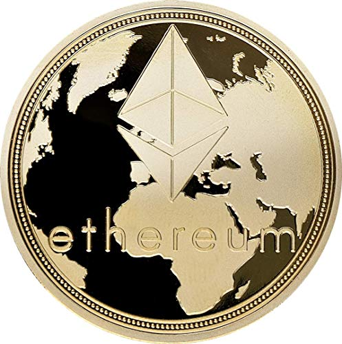 ethereum, Brass with gold Plating, acabado: Polished Plate, 40x 3mm, en acryllic Cup,