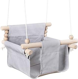 bopoobo Baby Canvas Swing Chair Hanging Indoor Outdoor Hammock Toy for Toddler Nursery Decor Universal Birthday Gift