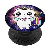 El mejor fondo de espacio fenomenal unicornio gato caticorn PopSockets PopGrip: Agarre intercambiable para Teléfonos y Tabletas
