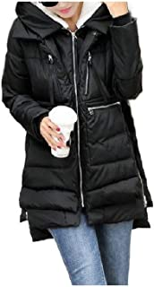 Howely Women's Oversized Thickened Army Hood Warm Premium Parka Jacket