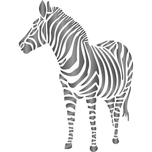 Zebra Schablone–wiederverwendbar African Animal Wildlife Schablonen für Malerei–zur Verwendung auf Papier Projekte Scrapbook Tagebuch Wände Böden Stoff Möbel Glas Holz usw. m