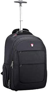OIWAS Wheeled Backpack Large Rolling Waterproof School Laptop Book Bag Outdoor Daypack Travel Carry On Luggage Suitcase