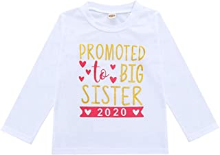 2019 2020 Baby Girl Clothes Outfit Big Sister Letter Print T-Shirt Top Blouse Shirts