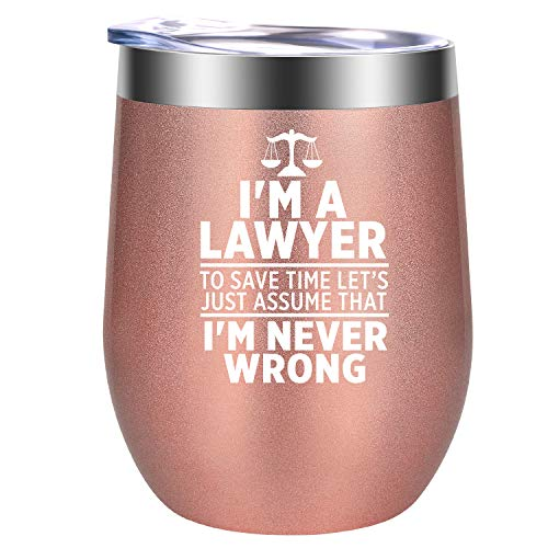 Lawyer Gifts, Law Gifts for Women - I am a Lawyer - Law School Gifts, Attorney Gifts, Law Student Graduation Gifts - Best Lawyer Birthday, Mothers Day Gifts for Lawyers - GSPY Lawyer Mug Wine Tumbler