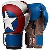 Hayabusa Marvel Hero Elite Boxing Gloves for Men and Women - Captain America, 12 oz
