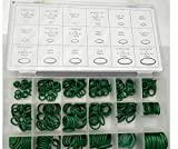 270Pcs/18 Sizes Rubber O-Ring Sealing Gasket Washer Seal Assortment Kit for Car Air Conditioning Compressor O-Ring Adhesive