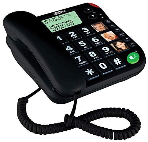 Maxcom KXT480CZ - Teléfono fijo, negro