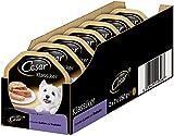 Cesar Comida para Perros húmeda de Cordero y Pavo, Pack de 7 Unidades, 150 g y 2 Cuencos
