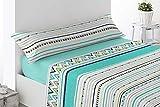 Energy Colors Textil-Hogar - Delfy - Juego Sábanas Completo Estampadas (Azul, 150_x_200_cm)