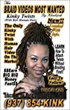 The Twist Video Most Wanted (Kinky Twist Adding Kinky Human Hair Extensions) [VHS]