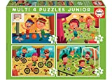 Educa - Multi 4 Junior Conjunto de Puzzles, Multicolor (18602)