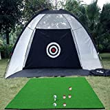 Indoor Outdoor Golf Practice Net Golf Hitting Cage Garden Grassland Practice Tent Golf