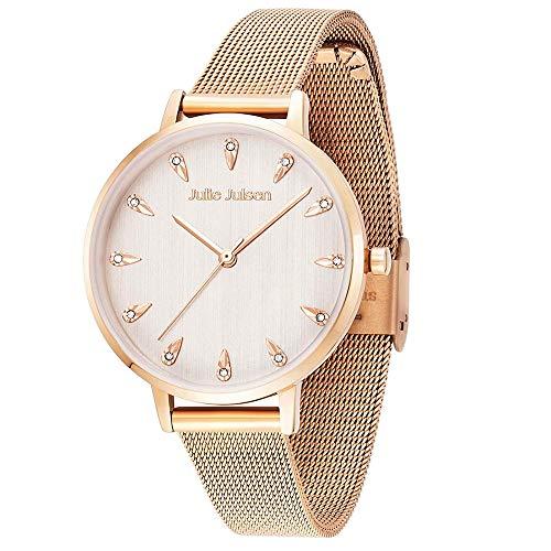 Julie Julsen Reloj de pulsera de cuarzo para mujer Drop en oro rosa con circonitas – JJW1259RGME