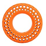 Alomejor1 Neumático de Rueda Celular de 6 Pulgadas Neumático Ruedas Cubo de Rueda Juego de neumáticos a Prueba de explosiones Neumático para Xiaomi mijia Monopatín de Bicicleta eléctrica(Naranja)