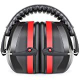 Fnova 34dB Highest NRR Safety Ear Muffs - Professional Ear Defenders Shooting, Adjustable