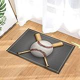 ajhgfjgdhkmdg Sport dekorative Baseball Lederball und ger Verschleißfeste und rutschfeste Badematten