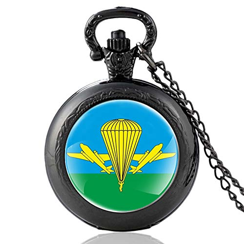 Classic Airborne Troops Ссср Vintage Quartz Pocket Watch Charm Pendant Clock Watch Men Women Necklace Gifts