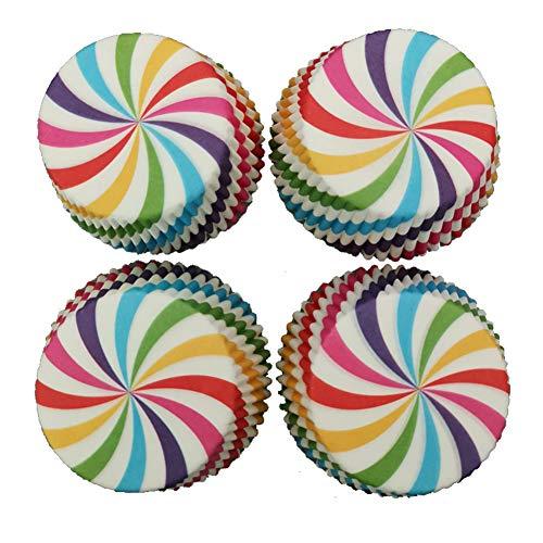 iKulilky – Moldes de Papel para Magdalenas, moldes de Papel, Tarta de cartón, pequeña Hornear, Vasos de Papel para Cupcakes, Pan, Galletas, postres
