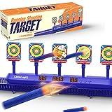 LITTLELOGIQ Electronic Shooting Target, Target Shooting Games for Kids, Scoring Auto Reset Digital Target, 5 Targets, Ideal Gift Set for Boys/Girls