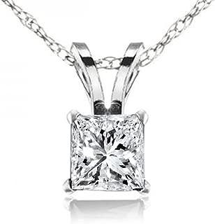 princess cut diamond pendant designs