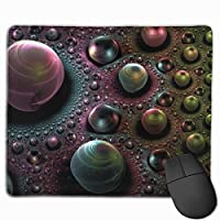 """Balls Background Spots Dark Mouse Pad Non-Slip Rubber Gaming Mouse Pad Rectangle Mouse Pads for Computers Desktops Laptop 9.8"""" x 11.8"""""""