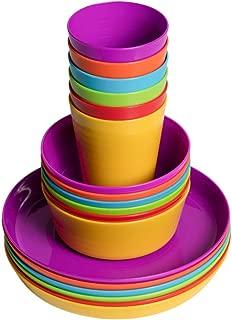 Klickpick Home Kids colorful dinnerware set- 6 colors (18 PCS SET)