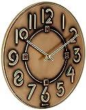 Bulova C3333 Frank Lloyd Wright Exhibition Wall Clock, Antique Bronze Metallic Finish