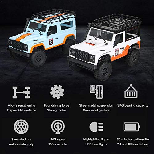 RC Auto kaufen Crawler Bild 6: jinclonder ferngesteuerte Autos, Land Rover Defender Modellauto Anniversary Edition, RC Rock Crawler Buggy, Offroad-Militär-Truck/Allround-Simulationssteuerung*