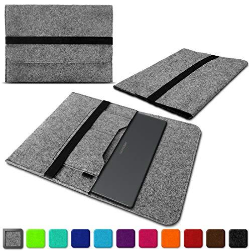 Filz Tasche für Medion Akoya E4254 S4219 S3409 E3216 E3215 Hülle Sleeve Hülle Schutzhülle Notebook Cover, Farben:Hell Grau