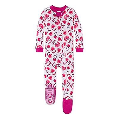 Burt's Bees Baby baby girls Pajamas, Zip Front Non-slip Footed Pjs, 100% Organic Cotton and Toddler Sleepers, Spring Picks, 18 Months US by Burt's Bees Baby