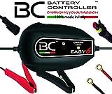 BC Battery Controller BC EASY 6, Caricabatteria e Mantenitore Intelligente a 6 Cicli per tutte le Batterie Auto e Moto 12V Piombo-Acido, 1 Amp