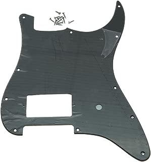 single ply black strat pickguard