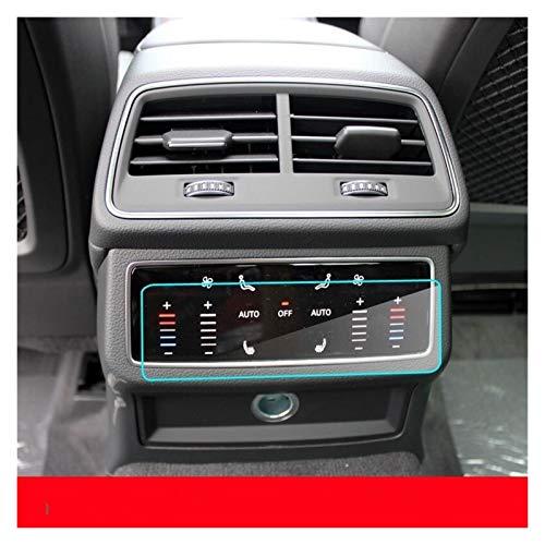 yhfhaoop Película Protectora del Protector de automóviles Aire Acondicionado Trasero Pantalla de Vidrio Templado for Audi A6 A7 Q8 2019 HNYHF