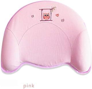 漫画の赤ちゃん枕低反発枕0〜1歳の新生児綿抗頭奇形アーチファクト四季の普遍的な(青、ピンク、黄色),Pink