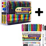 June Gold 72 Mechanical Pencils, 0.9 mm HB #2 Lead, Extra Refills and 39 Bullet Dry Erase Markers in 13 Unique Colors