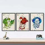 Nacnic Set de 3 láminas para enmarcar Mafalda Estilo Acuarela. Posters con imágenes de mafaldas en T...