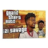ZXCMNB 21 Savage Kendrick Lamar Leinwand Kunst Poster und