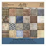 Tim Holtz Idea-ology Paper Stash, Dapper, 36 Sheets of 12 x 12 Inch Double-sided Cardstock Papers in Brown,...