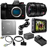 Panasonic Lumix DC-S1H Mirrorless Digital Camera Bundle 16-35mm f/4.0 LUMIX S Pro L-Mount Lens, Atomos Ninja V 5-inch Monitor and Accessories